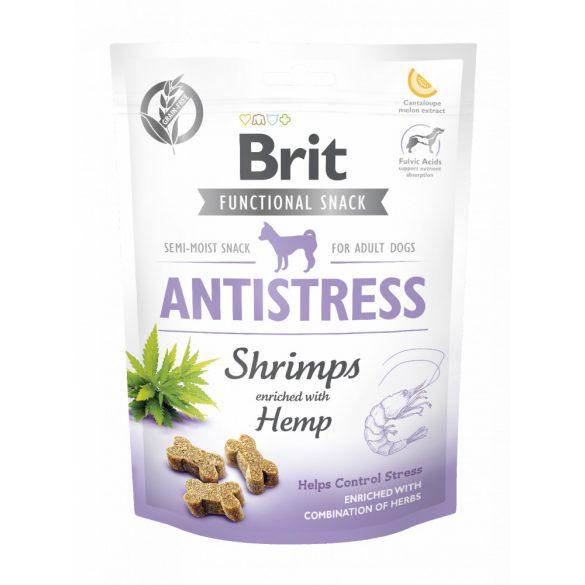 Brit Care Functional Snack Antistress - Garnéla és kender