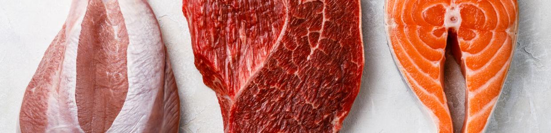 Fagyasztott húsok és barf menük